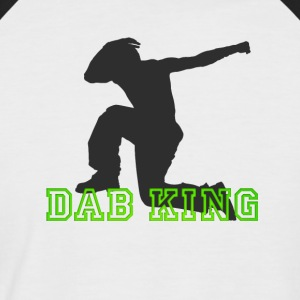 dab King dabbing Dance Football touchdown fun cool - Männer Baseball-T-Shirt