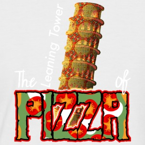 The Leaning Tower Of Pizza - Men's Baseball T-Shirt