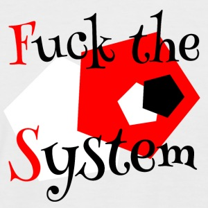 Fuck the system 1 - Kortermet baseball skjorte for menn