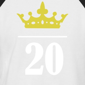 20 og PRINCESS !!! - Kortermet baseball skjorte for menn