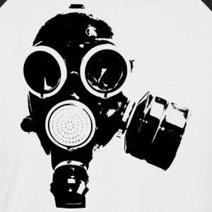 Gas-mask1 - Männer Baseball-T-Shirt