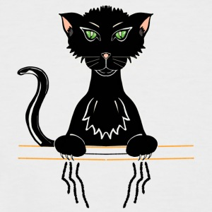 black cat - Men's Baseball T-Shirt