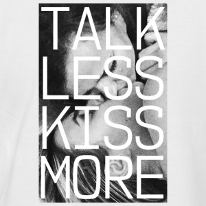 TALK LESS KISS MORE - Männer Baseball-T-Shirt