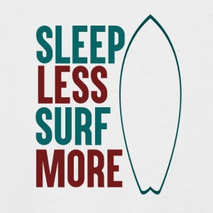 Sleep Less - Surf More - Men's Baseball T-Shirt