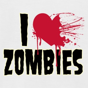 i love zombies - Men's Baseball T-Shirt