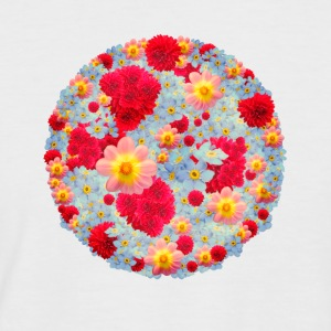 Floral colorful circle - Men's Baseball T-Shirt