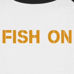 fish on scripture orange - Men's Baseball T-Shirt