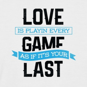 Love is - Men's Baseball T-Shirt
