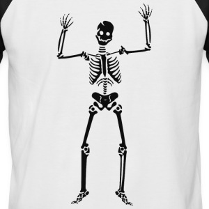 Happy Skeleton - Men's Baseball T-Shirt