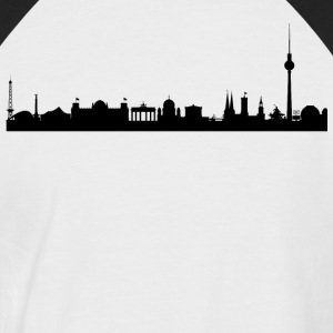 Berlin Skyline - Männer Baseball-T-Shirt