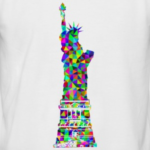 Statue of Liberty Mosaic - Men's Baseball T-Shirt