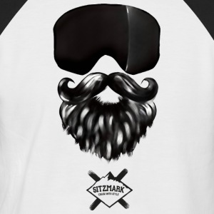 masque Barbe - T-shirt baseball manches courtes Homme