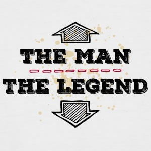 the Man the Legend legendär Sexprotz Macho Titan - Männer Baseball-T-Shirt