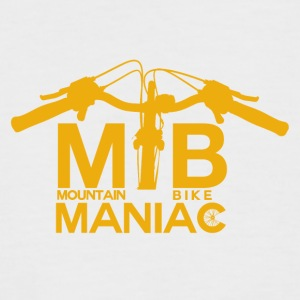 MTB Maniac - Mountainbike Passion - Männer Baseball-T-Shirt