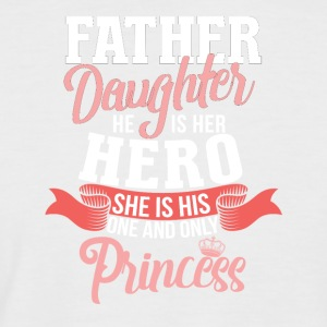 Father - a daughter's hero - Men's Baseball T-Shirt