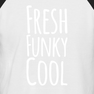 Frisk Funky Cool white - Kortermet baseball skjorte for menn