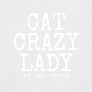 Crazy cat lady - Kortermet baseball skjorte for menn