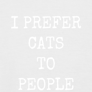 I prefer cats to people - Men's Baseball T-Shirt
