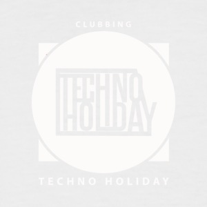 logo_techno_holiday_2017_blanco - T-shirt baseball manches courtes Homme