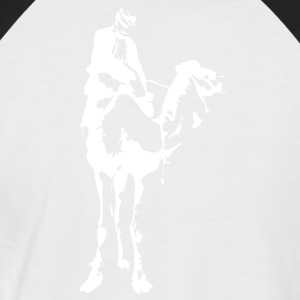 Camel rider I snow white I - Men's Baseball T-Shirt