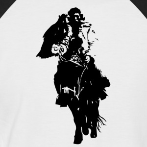 Lonely Mongol I black I - Men's Baseball T-Shirt