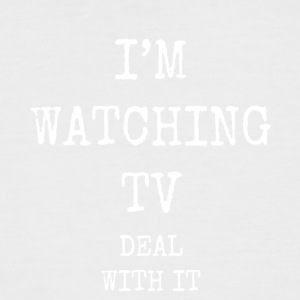 i'm watching tv deal with it - Men's Baseball T-Shirt