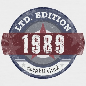 LtdEdition 1989 - Männer Baseball-T-Shirt