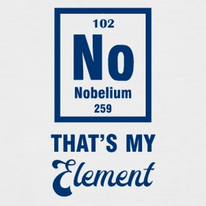 Periodic system: Nobelium - that's my element - Men's Baseball T-Shirt