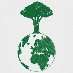 Earth Day / Tag der Erde: Earth and Tree - Männer Baseball-T-Shirt
