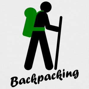 Backpacking, traveling with backpack - Men's Baseball T-Shirt