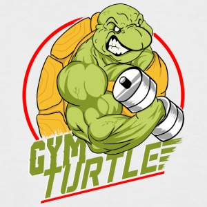 Gym Turtle Gym Design - Männer Baseball-T-Shirt