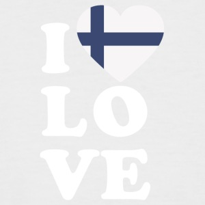 I love Finland - Men's Baseball T-Shirt
