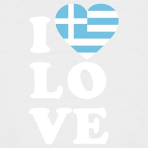 I love Greece - Men's Baseball T-Shirt