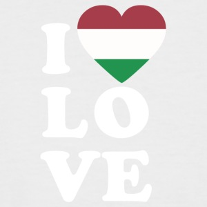 I love Hungary - Men's Baseball T-Shirt