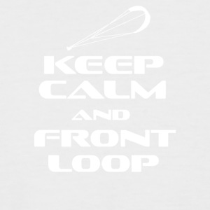 KITESURFING - KEEP CALM AND FRONT LOOP - Men's Baseball T-Shirt