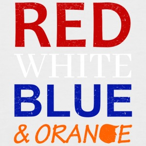 Red White Blue and Orange - Männer Baseball-T-Shirt