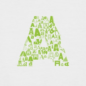 Font Fashion A - Men's Baseball T-Shirt
