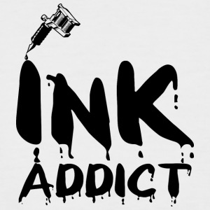 Tattoo / Tätowierung: Ink Addict - Männer Baseball-T-Shirt