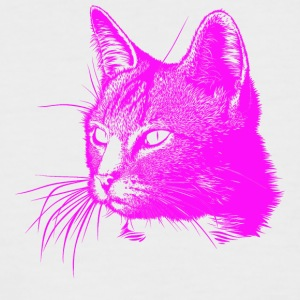 Cat head pink, cat, cat, domestic cat - Men's Baseball T-Shirt