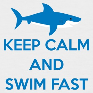Swimming / Swimmer: Keep Calm And Swim Fast - Men's Baseball T-Shirt