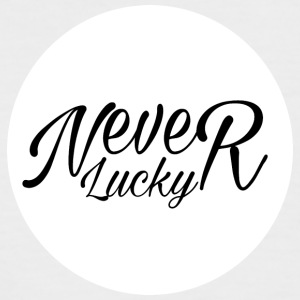 #Never Lucky - Kortermet baseball skjorte for menn