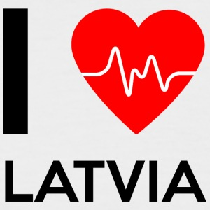 I Love Latvia - I Love Latvia - Men's Baseball T-Shirt