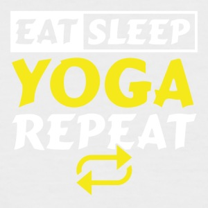 EAT SLEEP YOGA REPEAT - Men's Baseball T-Shirt