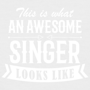 Awesome Singer - Männer Baseball-T-Shirt