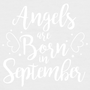 Angels are born in September - Men's Baseball T-Shirt
