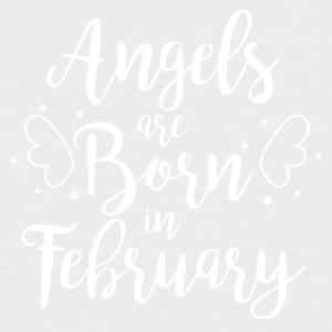 Angels are born in February - Men's Baseball T-Shirt