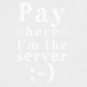 Pay here - Männer Baseball-T-Shirt