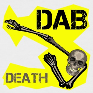 DAB DEATH YELLOW / Yellow dab of death - Men's Baseball T-Shirt