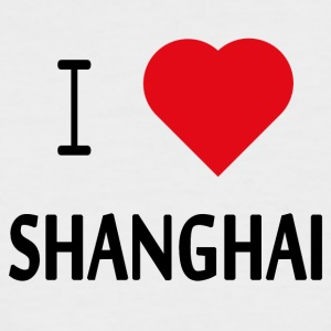 I Love Shanghai - Men's Baseball T-Shirt