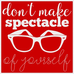 Optiker: Don´t Make Spectacle Of Yourself - Männer Baseball-T-Shirt